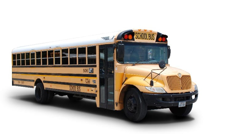 conventional school bus